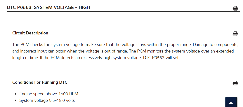 p0563 system voltage high