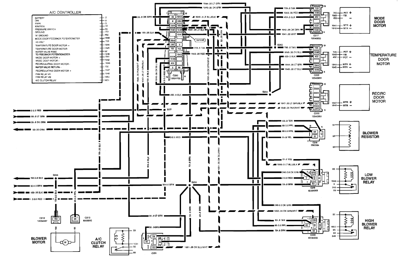 1990 gmc sierra heater wire diagram