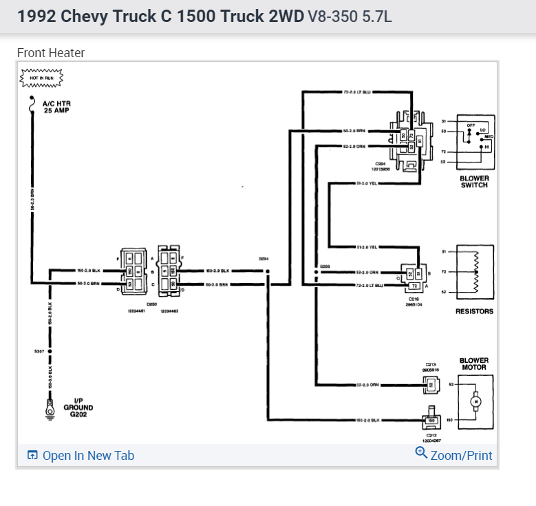 heater wiring does anyone have the wiring diagram for the ac Fuel Pump Relay 1992 Chevy Truck