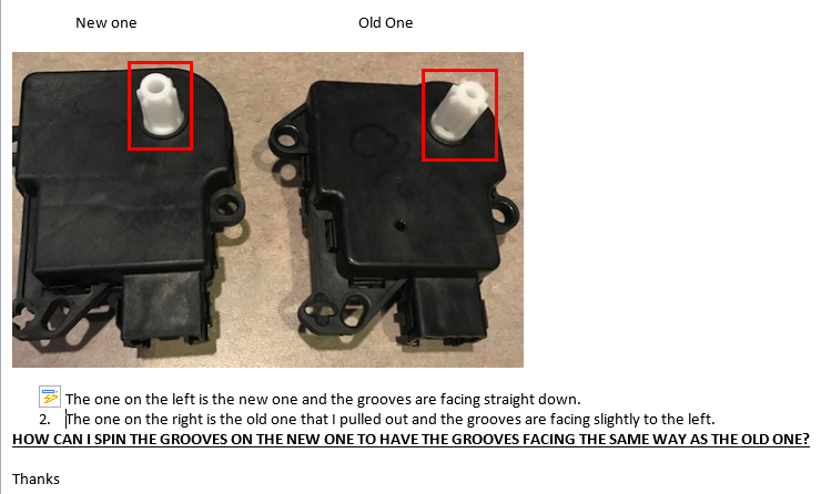 Blend Door Actuator Replacement: I Am Trying to Replace My Blend