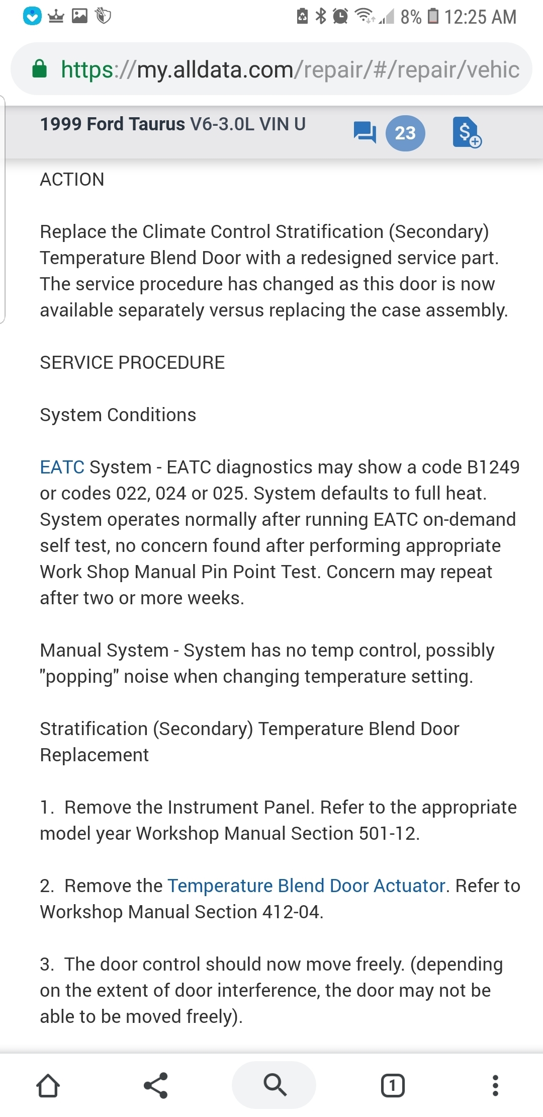 EATC Seems to Be Stuck on Max Heat