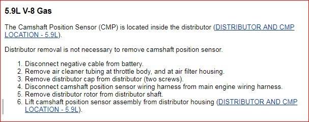Camshaft Position Sensor Location: Truck Has Code P0340