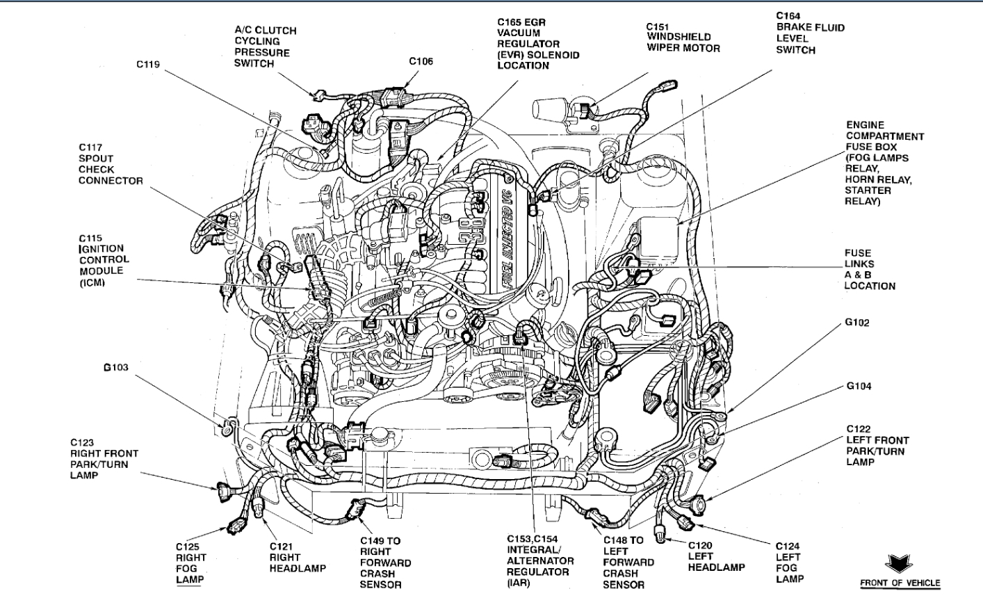 Engine Diagram Spark Plugs As Well 1990 Ford Mustang Gt Wiring Diagram