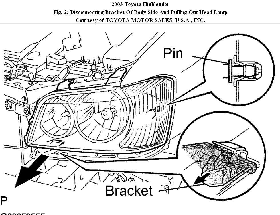 headlamp diagram 2005 toyota highlander 2004 toyota highlander  u2022 creativeand co