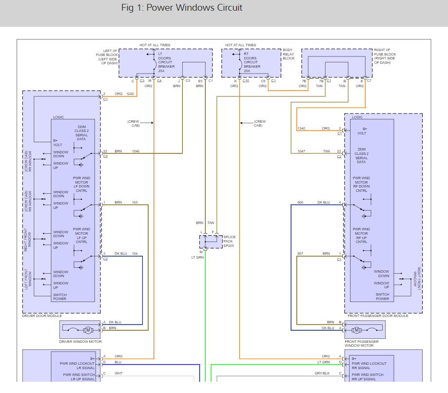 2008 Silverado Power Window Wiring Diagram from www.2carpros.com