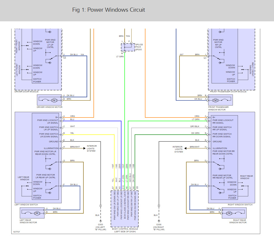 Power Window Wiring Diagram  It Has Manual Locks And