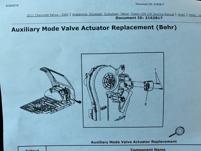 How to Replace Rear HVAC Blend Door Actuator