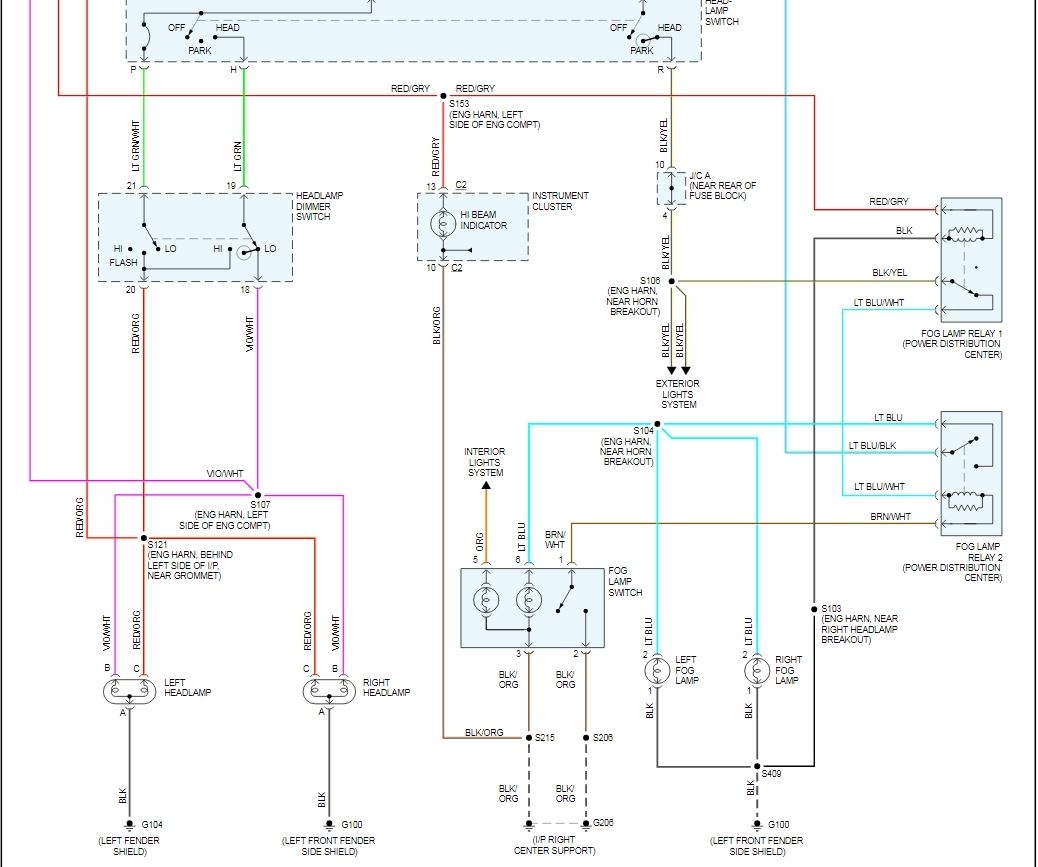 High Beam Indicator Lightcar Wiring Diagram