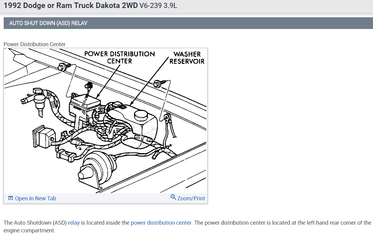 Ignition System Wiring Diagram 1992 Dodge Dakota Fuel Pump