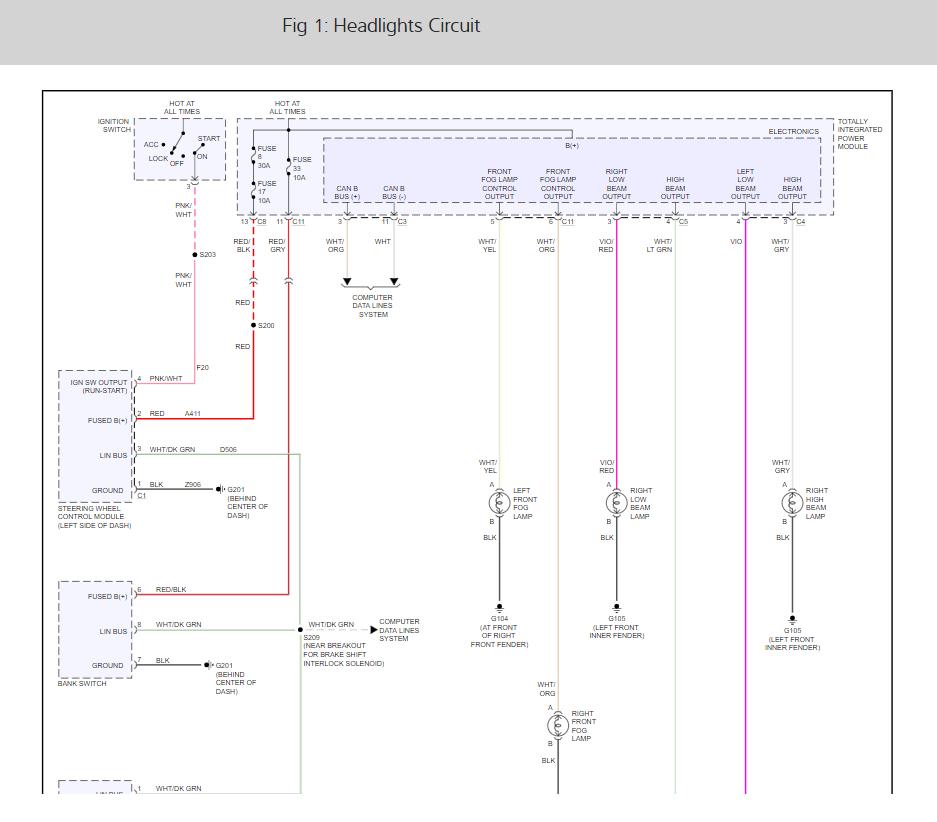 2006 Pt Cruiser Headlight Wiring Diagram