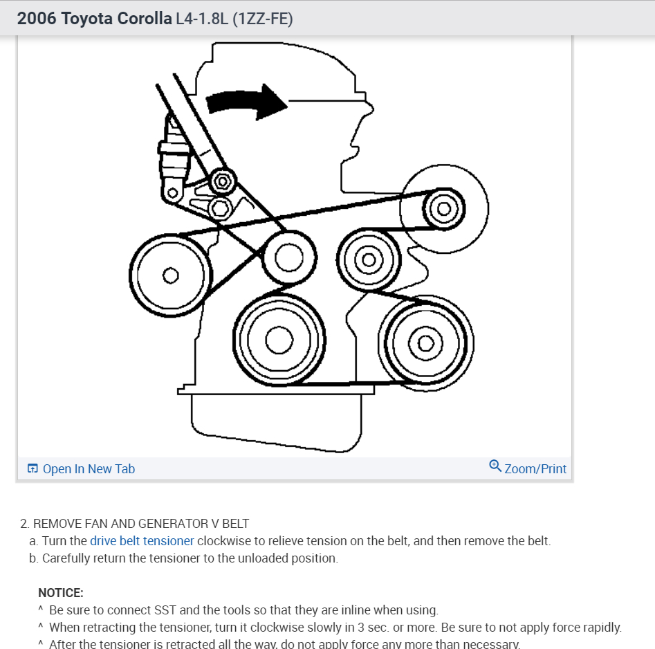 Some Tips For Changing The Serpentine Belt In 3rd Manual Guide