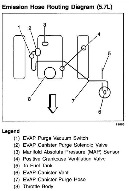 Vacuum Lines Diagram I Need To See A Diagram Of The Vacuum Lines