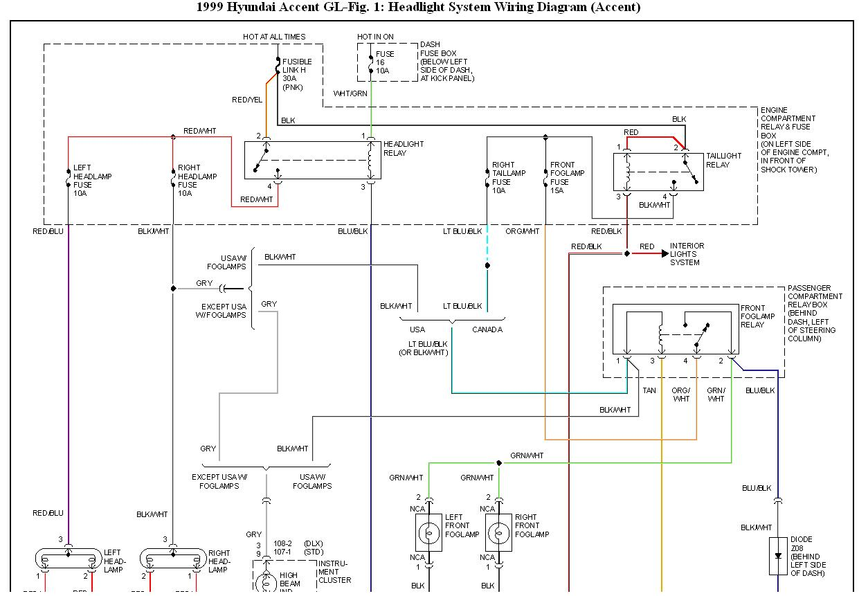 headlight wiring diagram 2011 hyundai accent low beam is not working: i have a hyundai accent 1999 and ... light wiring diagram 2000 hyundai accent