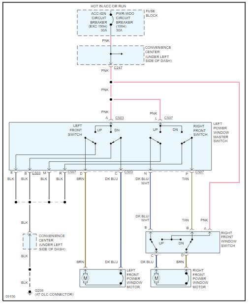 Power Window Wiring Diagram It Has Manual Locks And Windows I