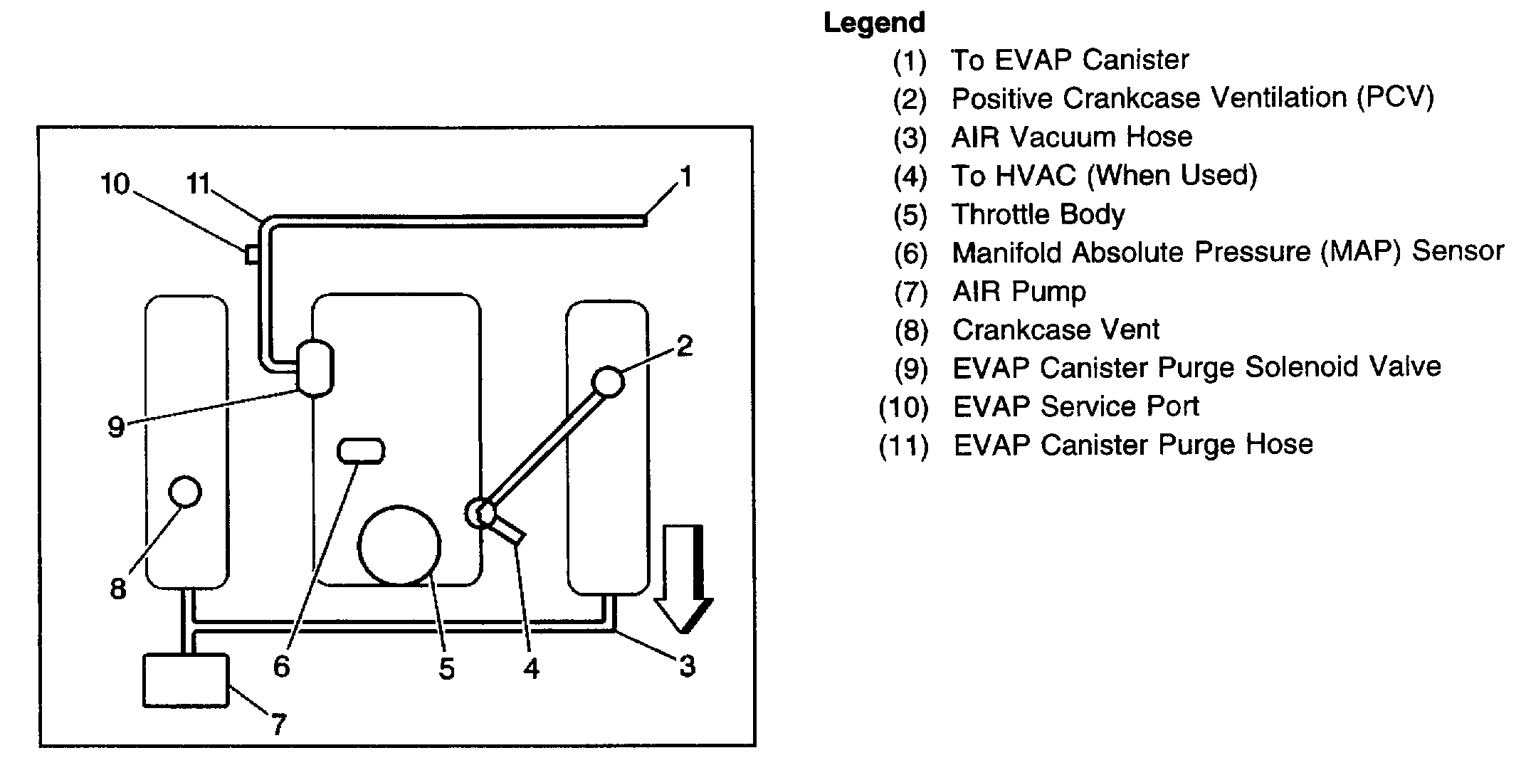 Vacuum Line Diagrams There Is A Vacuum Hose Coming From The