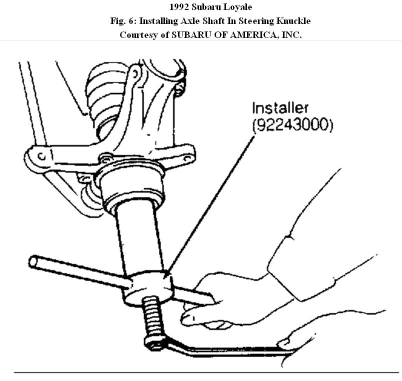 service manual  1992 subaru loyale timing chain