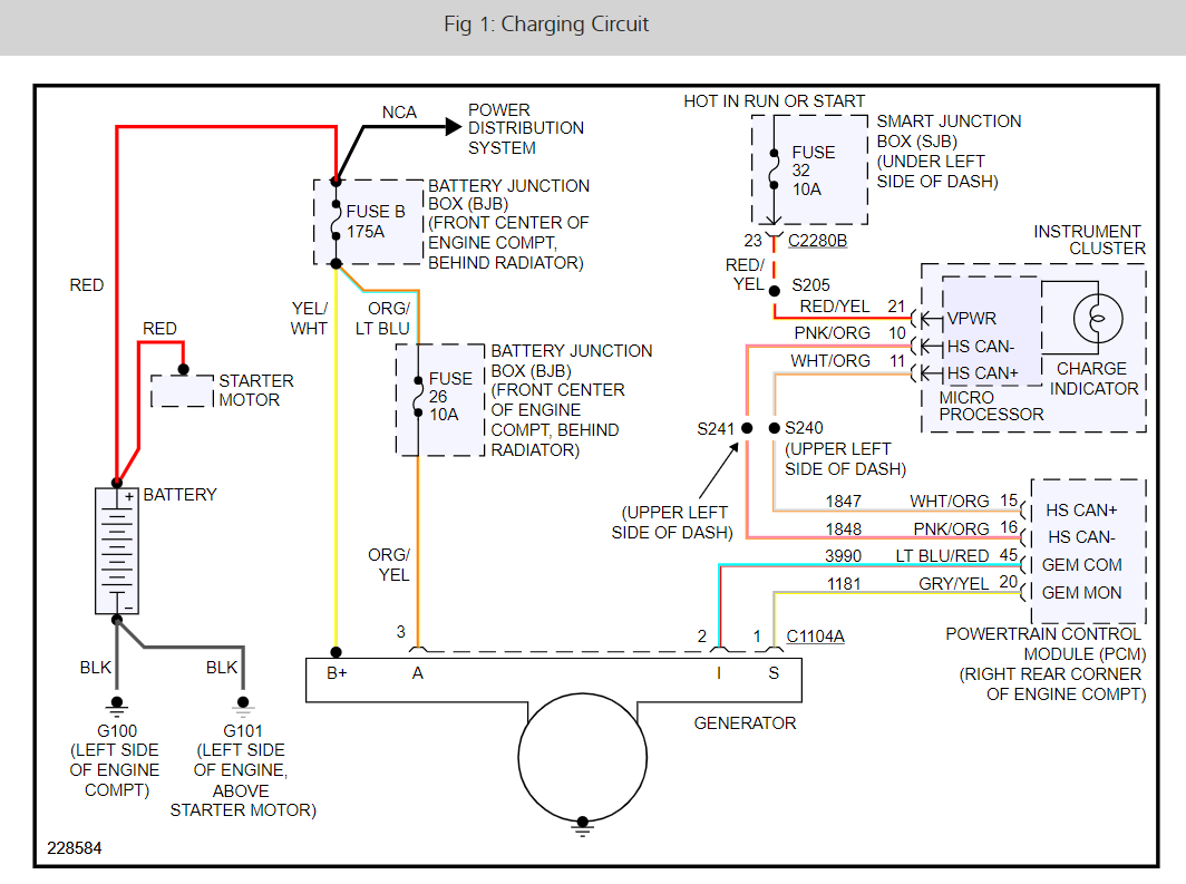 Charging System Problem The 34 Check Charging System