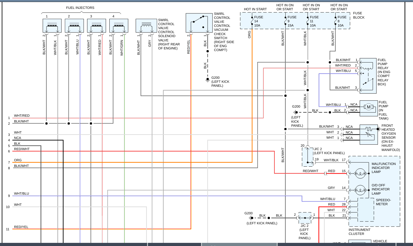 Fuel Injection Wiring Diagrams Needed  Need The Wiring