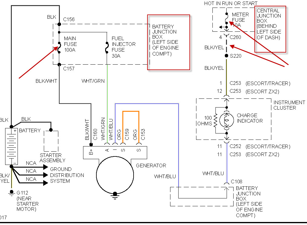1999 ford escort wiring diagram