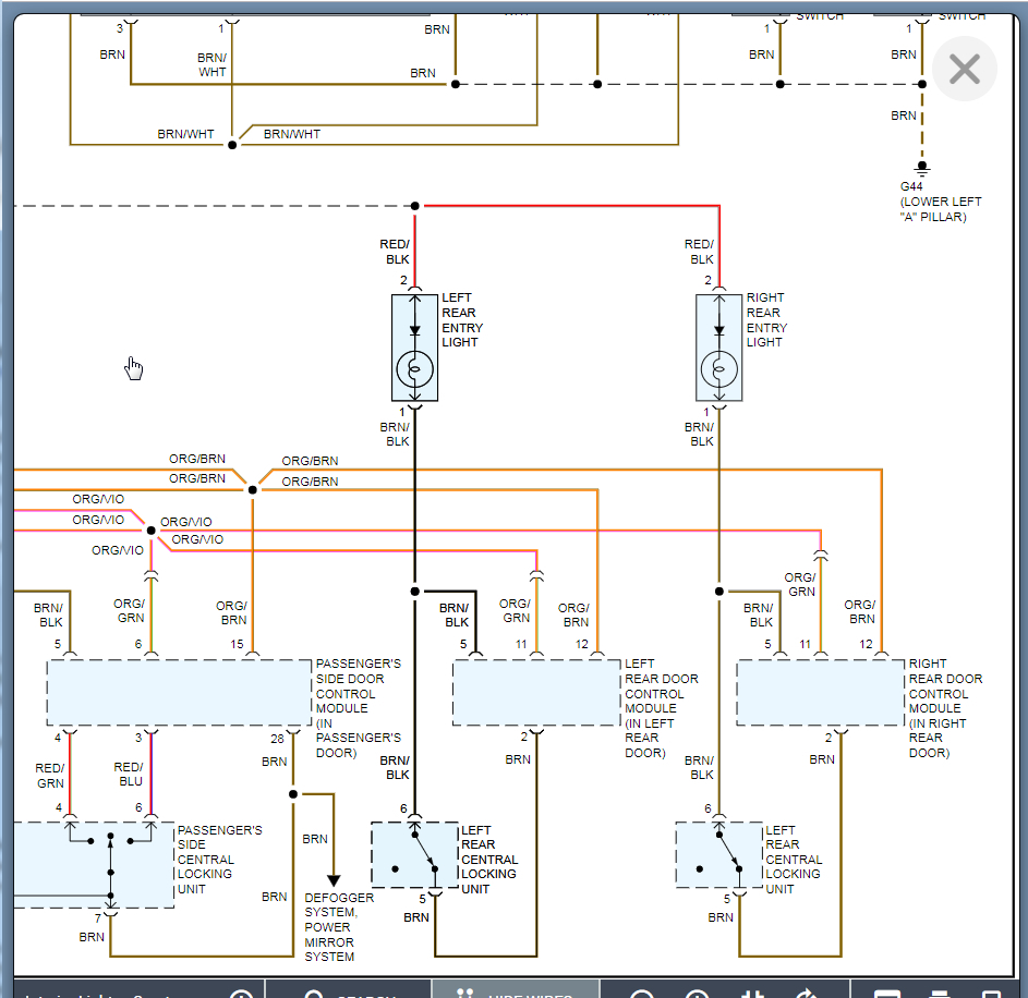 Interior Lights Wiring Diagram Needed  I Would Like To Get