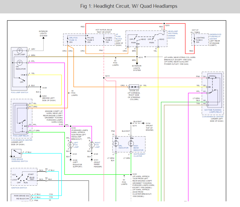 Headlight Switch Wiring Diagram  I Am Trying To Find A
