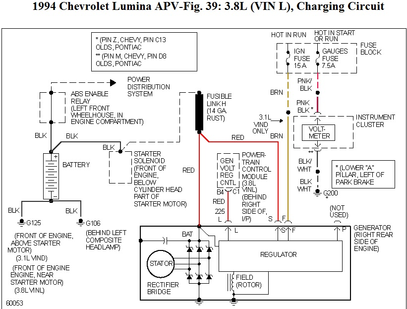 Electrical  I Have A 94 Lumina Apv With 3 8 That I Am