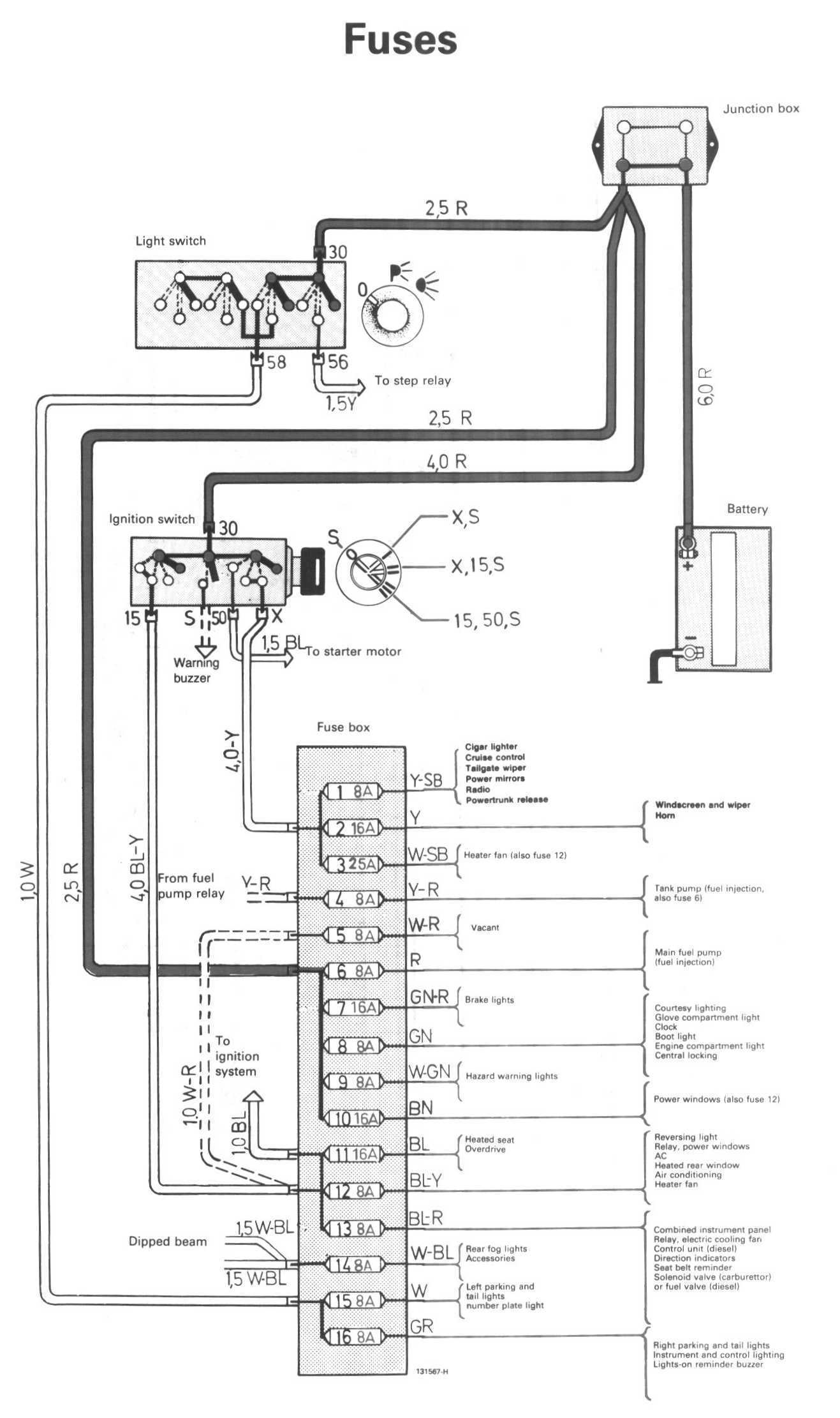 volvo 240 fuel pump relay wiring diagram   40 wiring diagram images