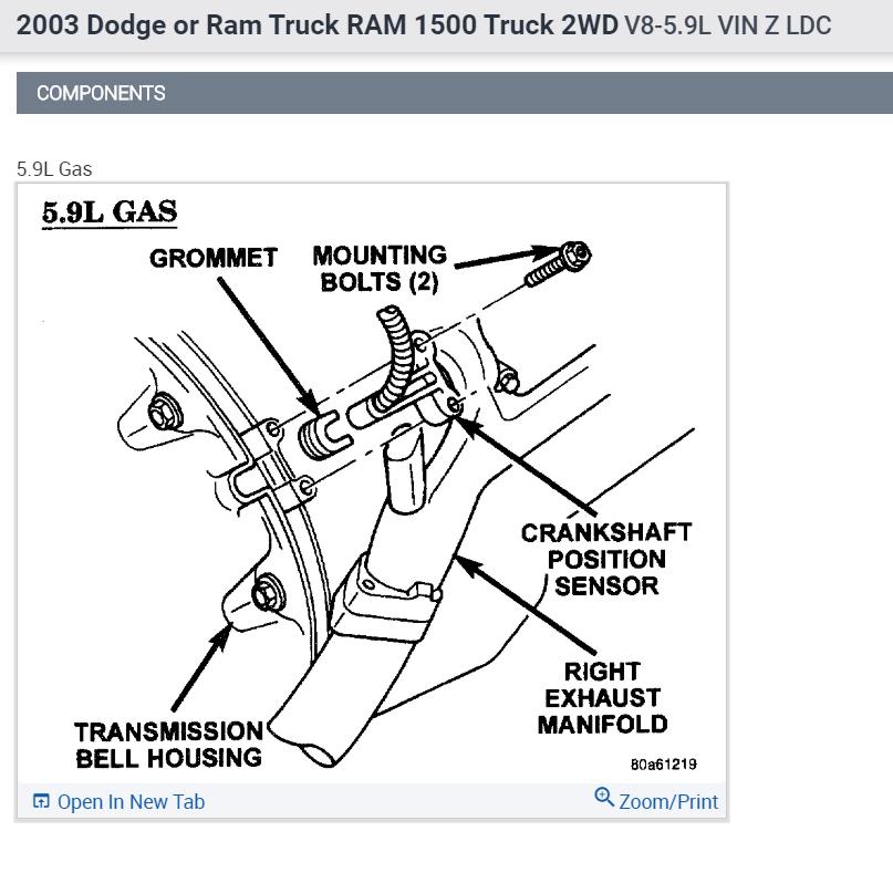 Camshaft Position Sensor Location Truck Has Code P0340 Camshaft