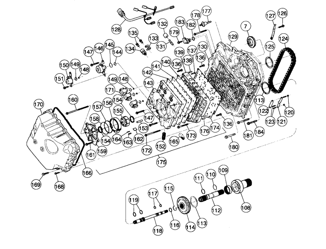 TRANSMISSION ASSEMBLY DIAGRAMS: a Diagram of How the Transmission ...2CarPros
