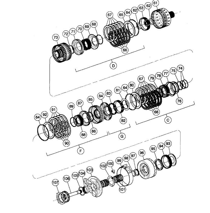 Transmission Assembly Diagrams  A Diagram Of How The