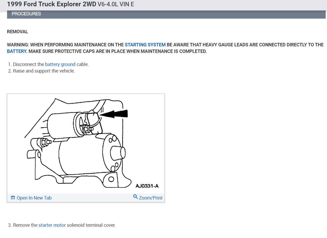 Starter Replacement: Is the Starter Replacement on a 1999 Explorer...