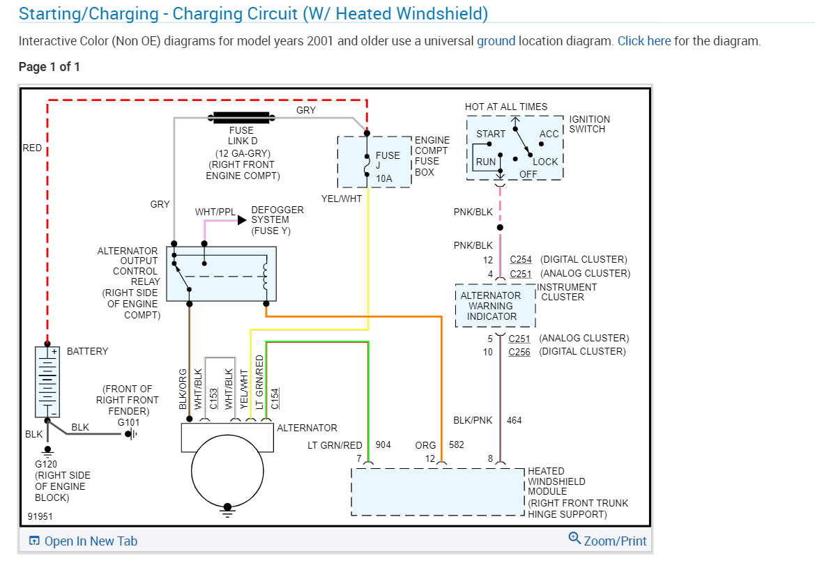 alternator wiring diagram?: changed fuse j10 p25 as suggested, no ...  2carpros