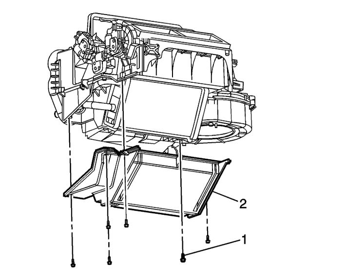 A  C Evaporator Replacement Diagram Or Instructions