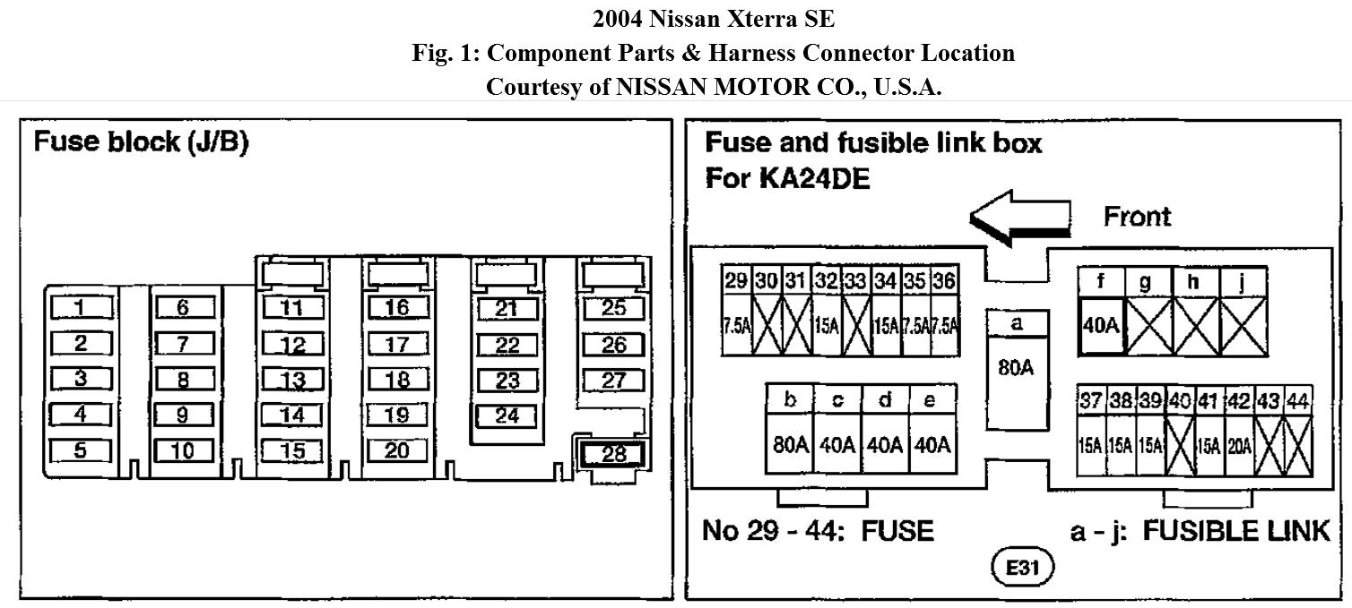 2004 Nissan Xterra Stereo Wiring Diagram from www.2carpros.com
