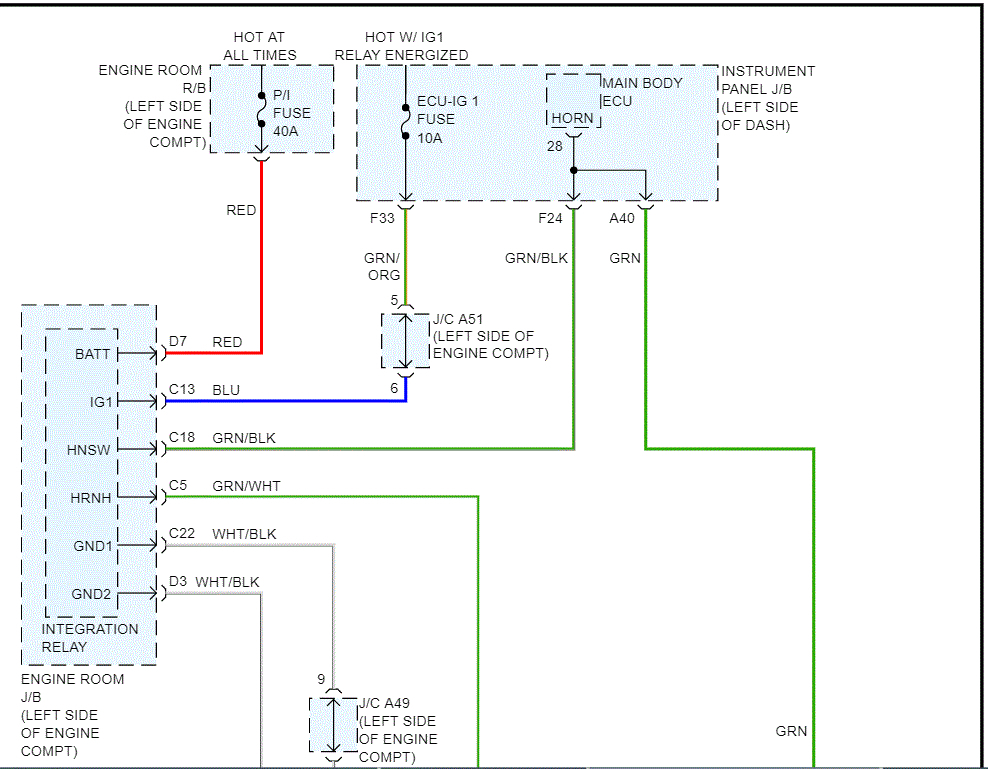 Horn Wiring Diagram  Need Horn Wiring Diagram  Can U0026 39 T Find