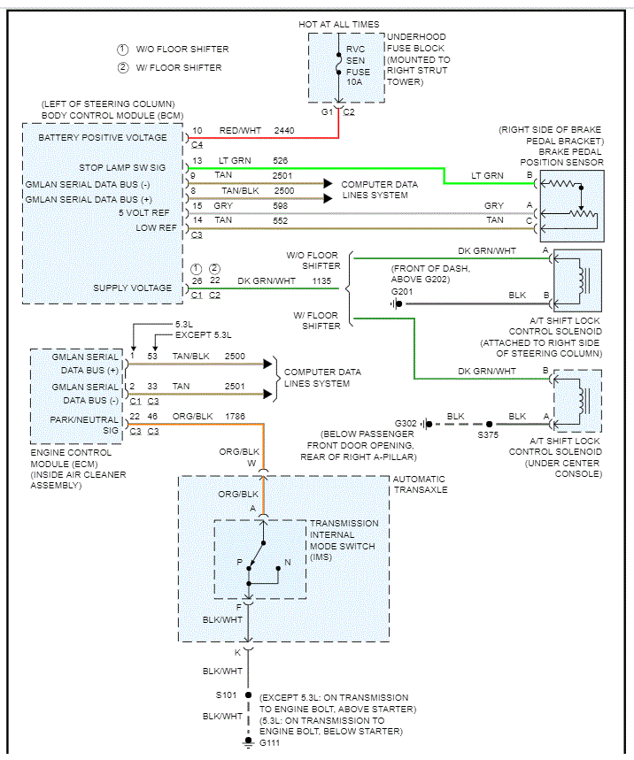 Shift Interlock Solenoid Wiring Diagram  All My Wires To