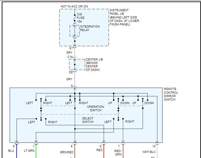 Wiring Diagram Needed To Install Power Mirrors