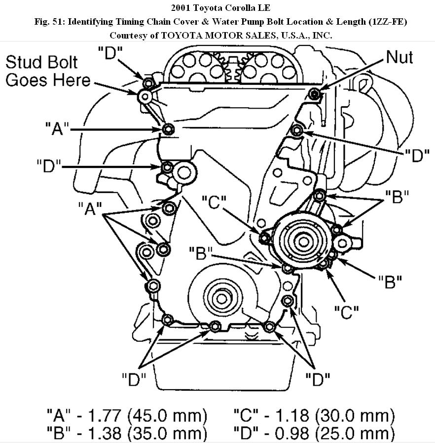 2001 Toyota Corolla Timing Chani on 1999 toyota camry engine diagram