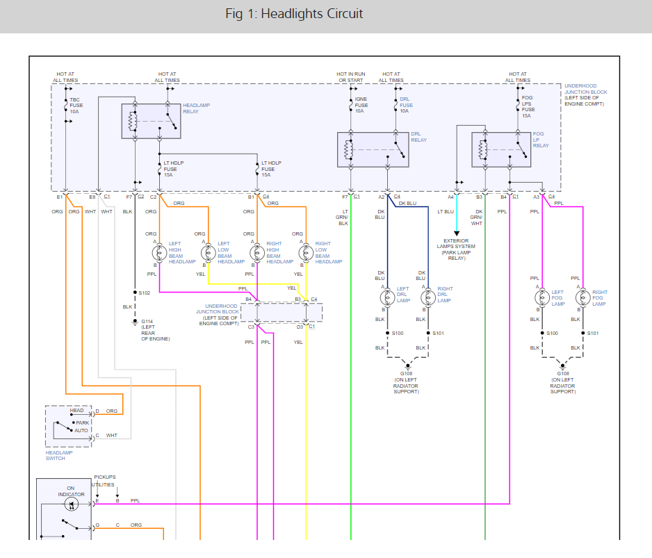 Headlight Wiring Diagrams Please The Wiring That Runs From The