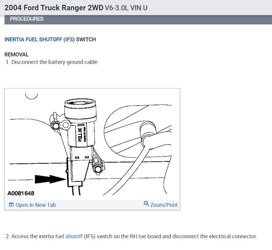 Ford Inertia Switch Wiring Diagram from www.2carpros.com