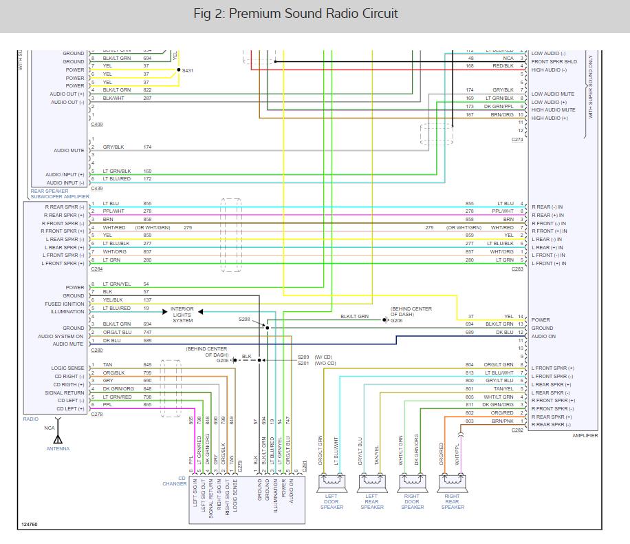Radio Wiring Diagrams?: Left Rear Speaker Not Working ...