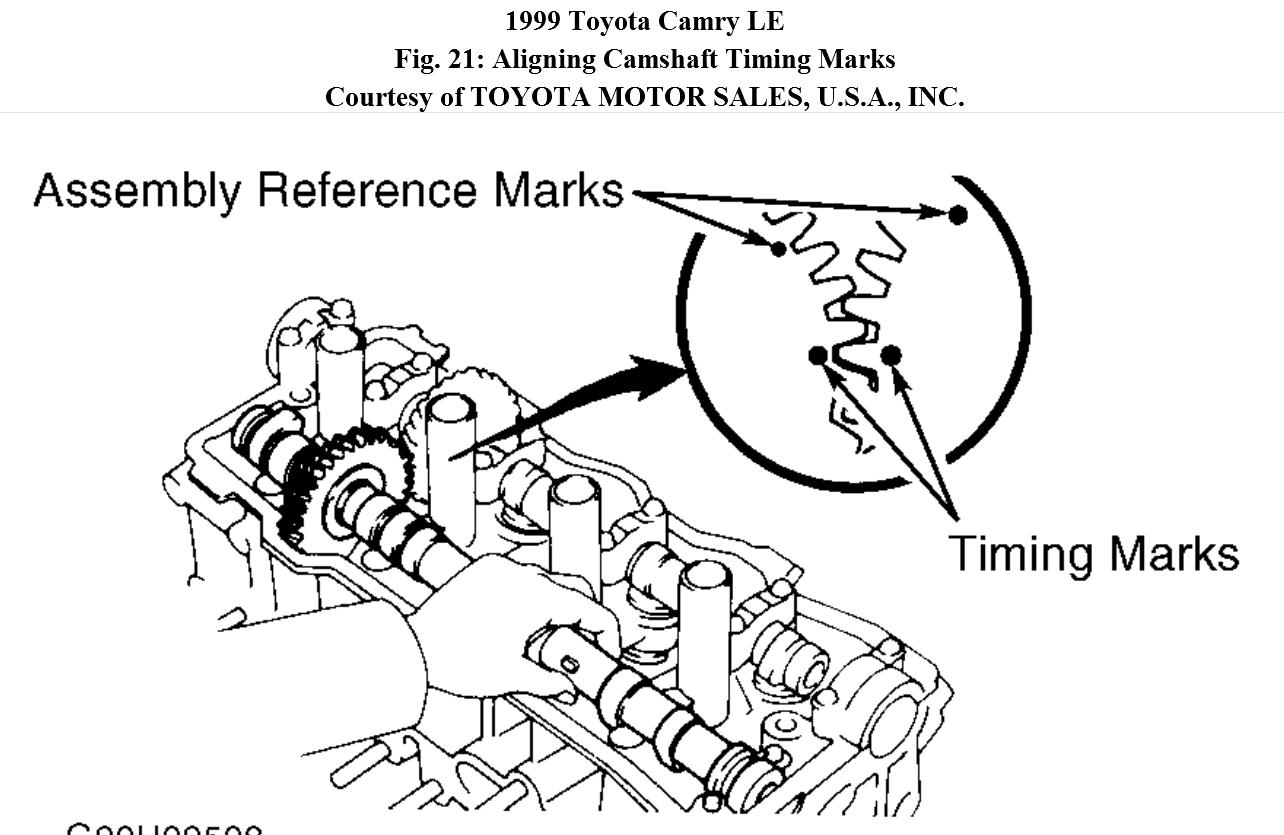 Can You Show Me A Diagram Of The Timing Marks For The 30 Engine