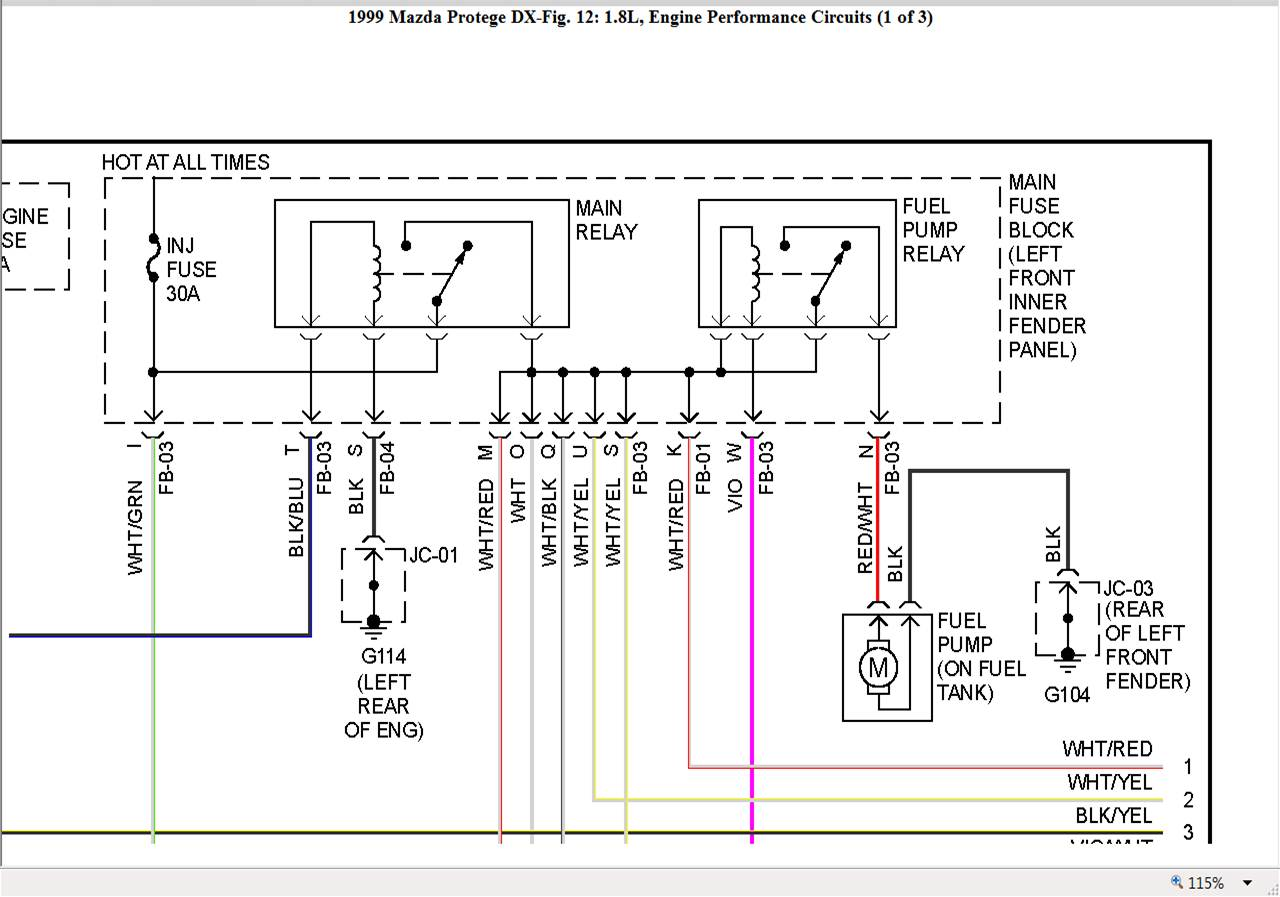 Mazda Fuel Pump Diagram : Mazda fuel pump wiring diagram