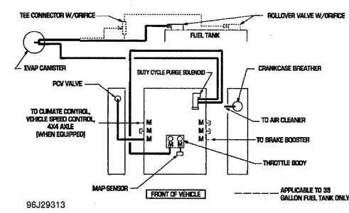 where can i get a vacuum line diagram?The Line Could Also Be To Evap Shown In Diagram As Well #2