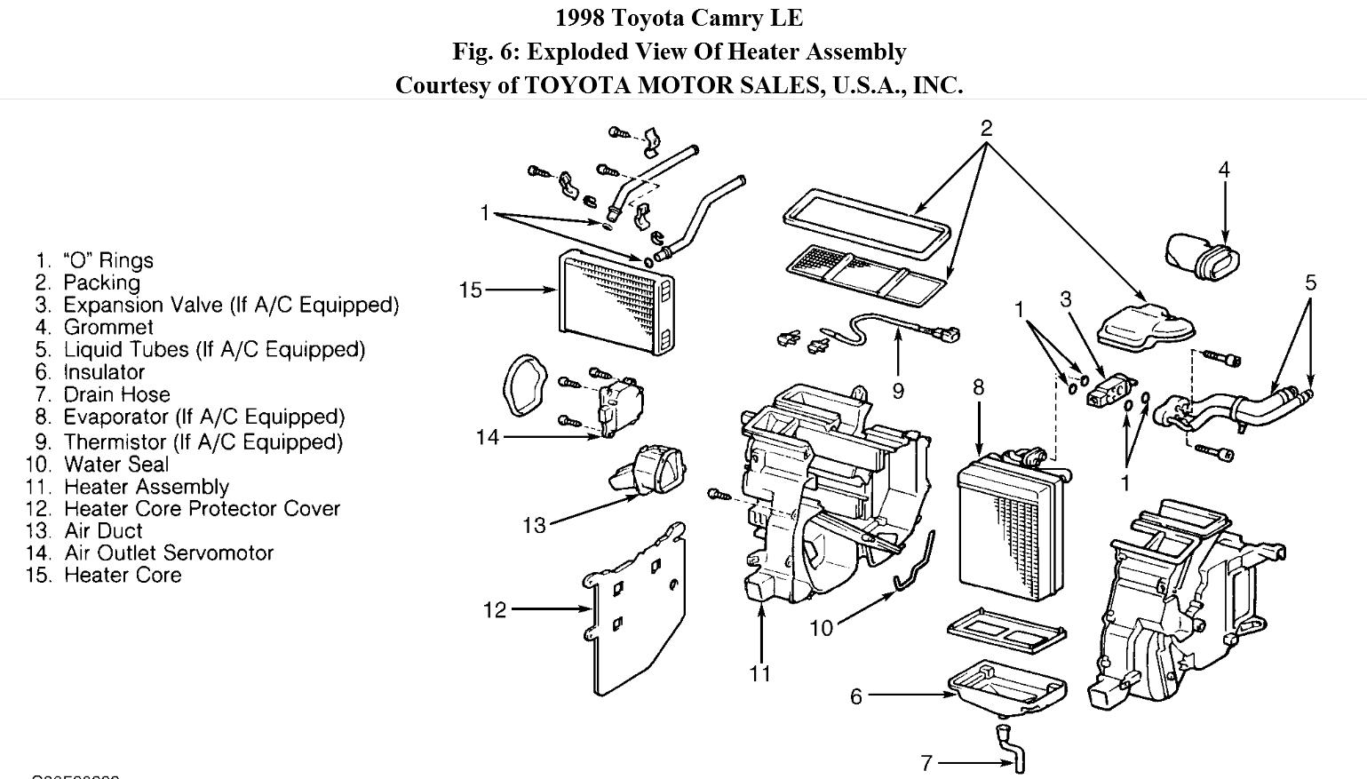 engine toyota schematic diagrams air ducts