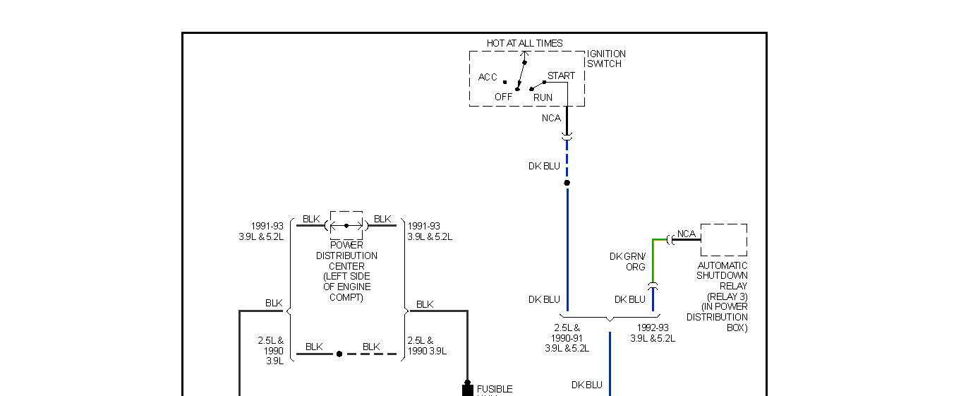Wiring Diagram  I Am Working In My 1991 Dodge Dakota 4x4 And I
