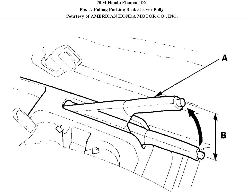 honda element parking brake diagram