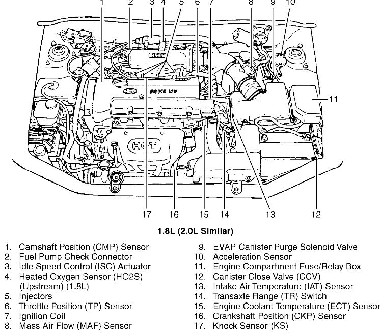 2003 Hyundai Tiburon Engine Wiring Diagram