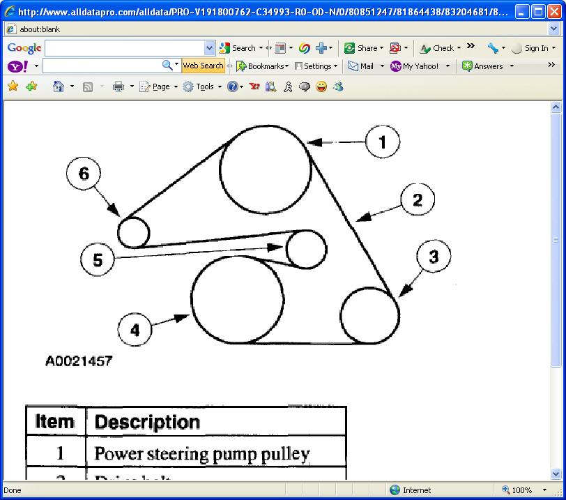 2001 Ford Escape Xlt Serpentine Belt Diagram  2001 Ford