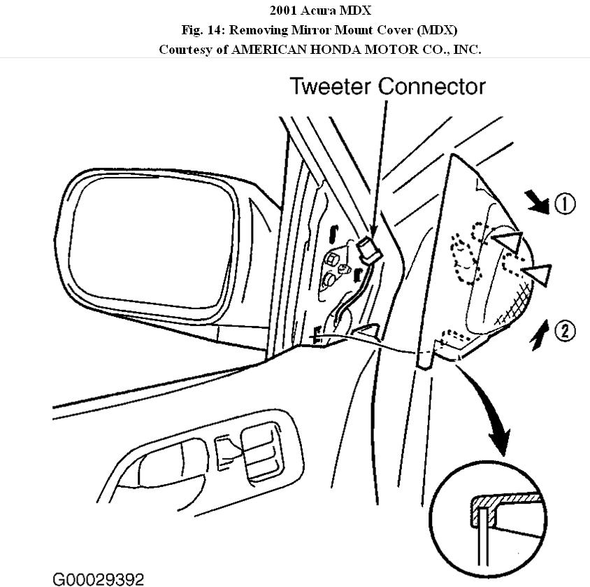 side mirror parts diagram